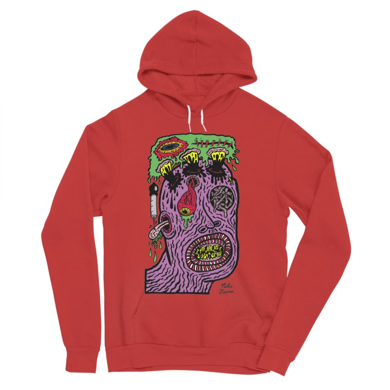 Purple Pain Person Women's Sponge Fleece Pullover Hoody by Mike Diana T-Shirts Mugs and More!
