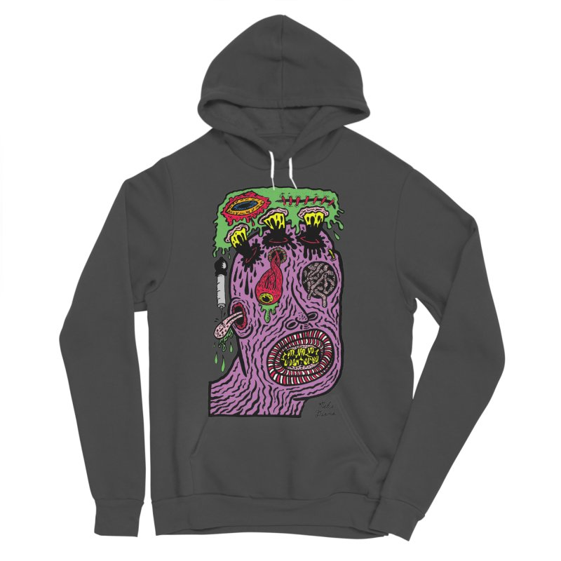 Purple Pain Person Men's Sponge Fleece Pullover Hoody by Mike Diana T-Shirts Mugs and More!