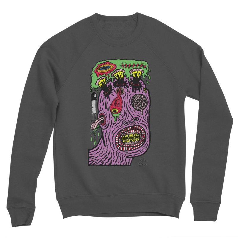 Purple Pain Person Men's Sponge Fleece Sweatshirt by Mike Diana T-Shirts Mugs and More!
