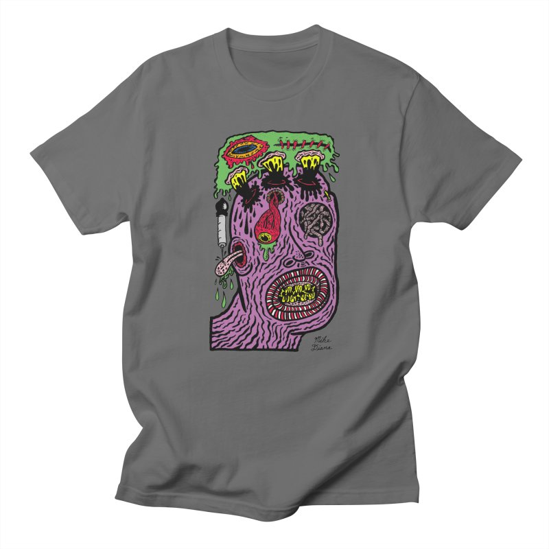 Purple Pain Person Men's T-Shirt by Mike Diana T-Shirts Mugs and More!