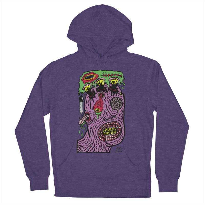 Purple Pain Person Women's French Terry Pullover Hoody by Mike Diana T-Shirts Mugs and More!