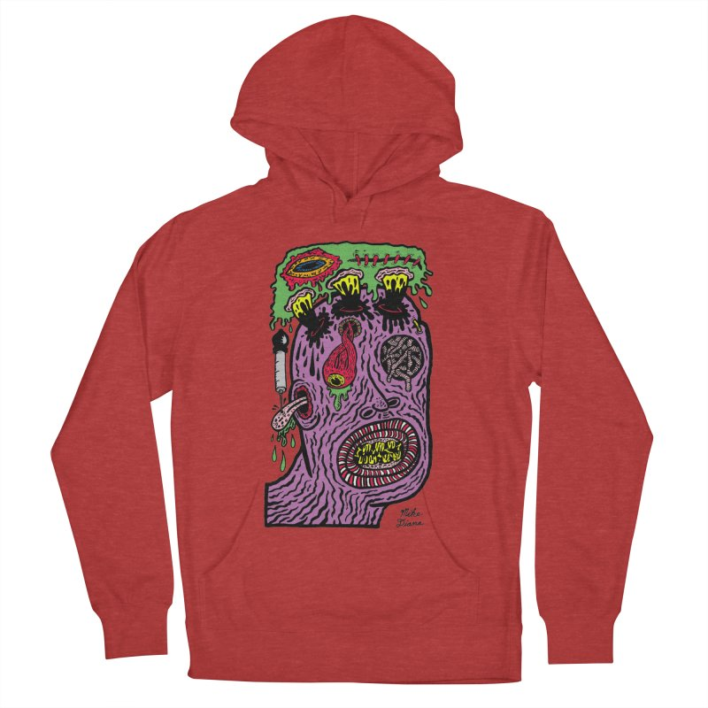 Purple Pain Person Men's French Terry Pullover Hoody by Mike Diana T-Shirts Mugs and More!