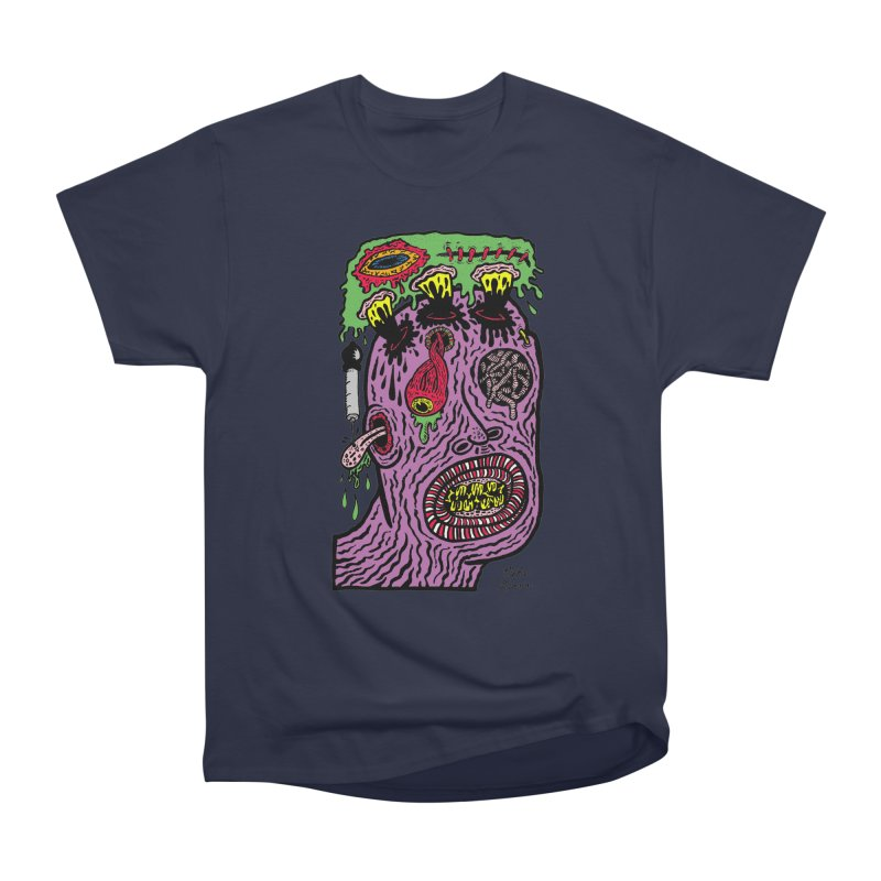 Purple Pain Person Men's Heavyweight T-Shirt by Mike Diana T-Shirts Mugs and More!