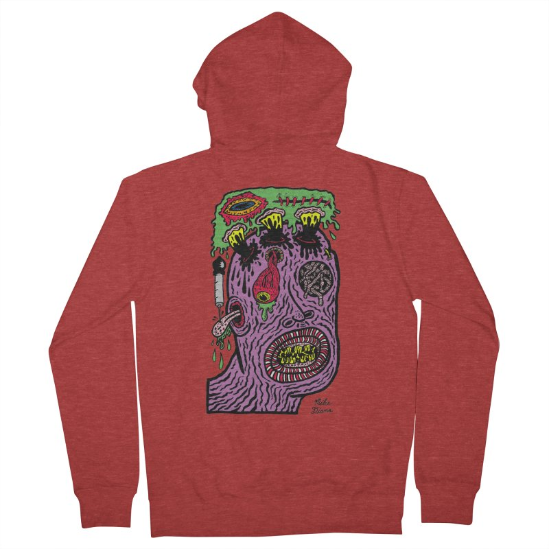 Purple Pain Person Women's French Terry Zip-Up Hoody by Mike Diana T-Shirts Mugs and More!