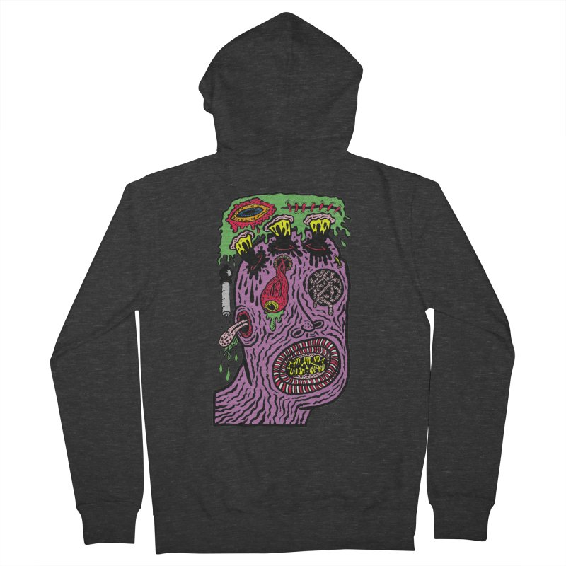Purple Pain Person Men's French Terry Zip-Up Hoody by Mike Diana T-Shirts Mugs and More!