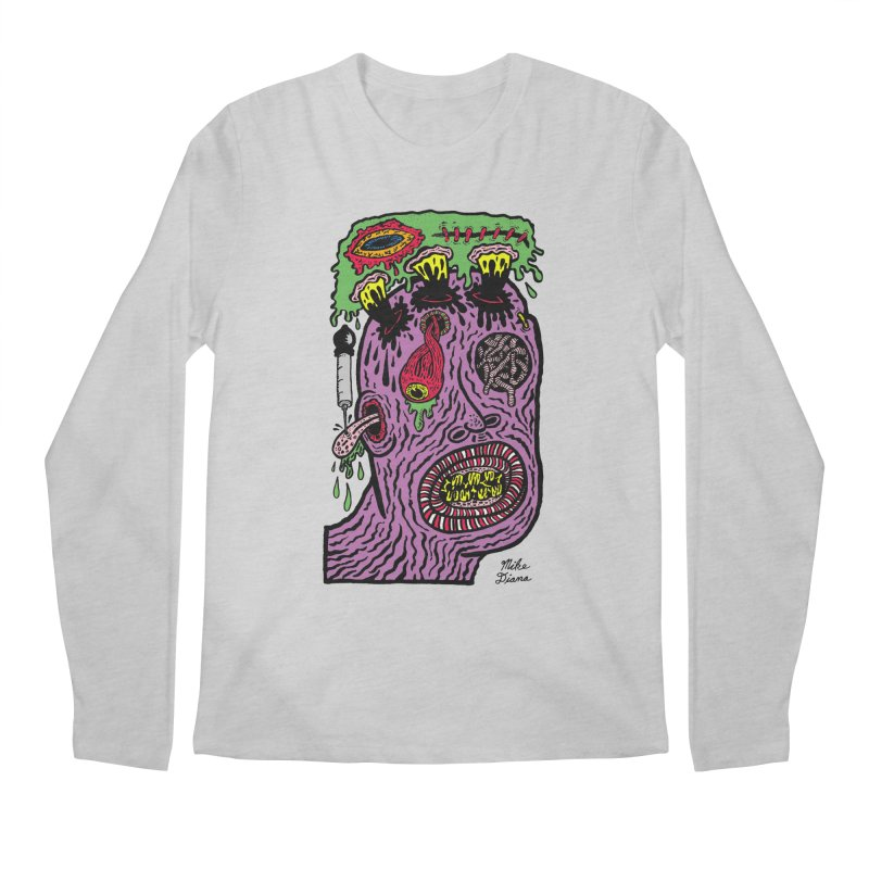 Purple Pain Person Men's Regular Longsleeve T-Shirt by Mike Diana T-Shirts Mugs and More!