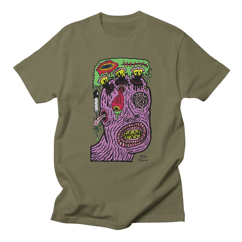 Purple Pain Person Men's Regular T-Shirt by Mike Diana T-Shirts Mugs and More!