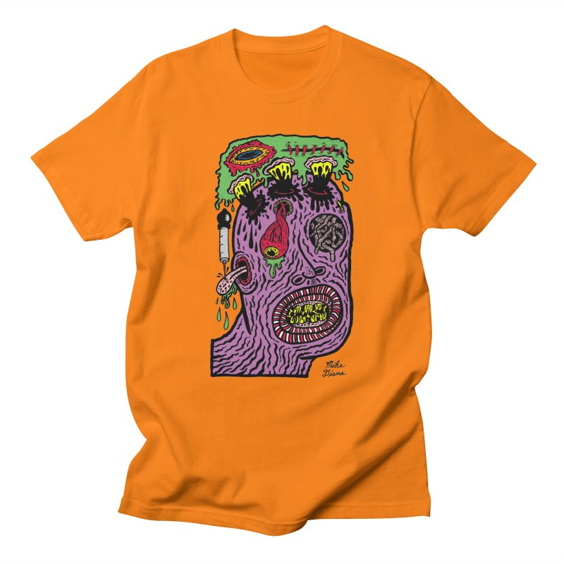 Purple Pain Person Women's Regular Unisex T-Shirt by Mike Diana T-Shirts Mugs and More!