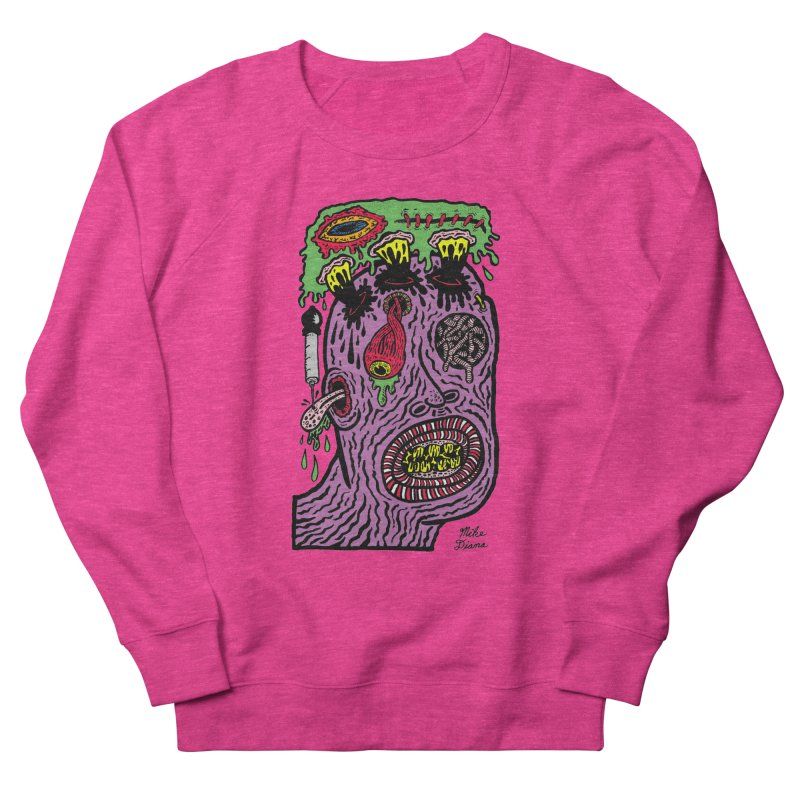 Purple Pain Person Women's French Terry Sweatshirt by Mike Diana T-Shirts Mugs and More!