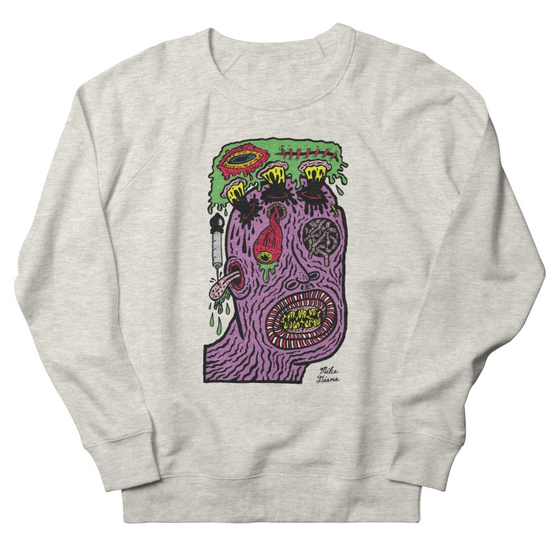 Purple Pain Person Men's French Terry Sweatshirt by Mike Diana T-Shirts Mugs and More!