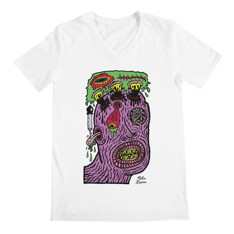 Purple Pain Person Men's V-Neck by Mike Diana Threadless