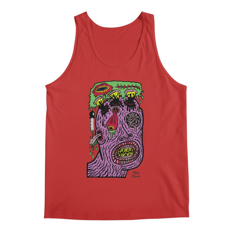 Purple Pain Person Men's Regular Tank by Mike Diana T-Shirts Mugs and More!