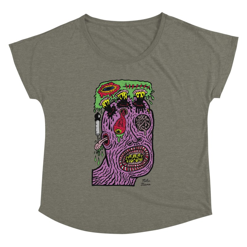 Purple Pain Person Women's Dolman Scoop Neck by Mike Diana T-Shirts Mugs and More!