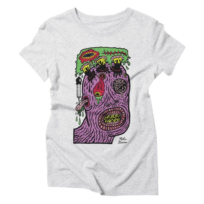 Purple Pain Person Women's Triblend T-Shirt by Mike Diana T-Shirts Mugs and More!