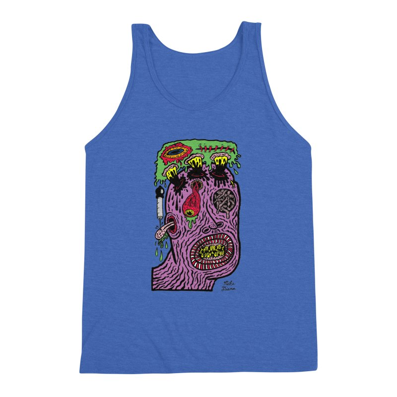 Purple Pain Person Men's Triblend Tank by Mike Diana T-Shirts Mugs and More!