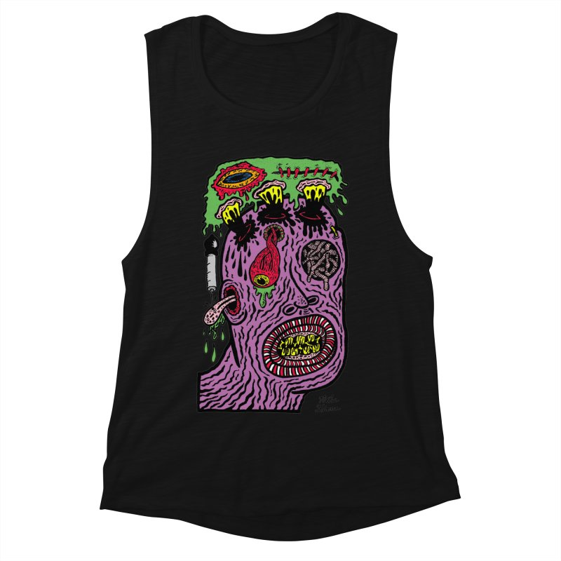 Purple Pain Person Women's Muscle Tank by Mike Diana T-Shirts Mugs and More!