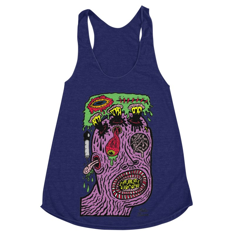 Purple Pain Person Women's Racerback Triblend Tank by Mike Diana T-Shirts Mugs and More!