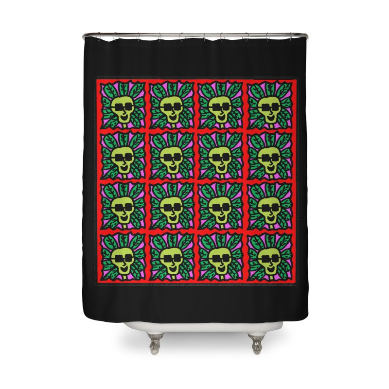 Weed Dude Blotter Head Home Shower Curtain by Mike Diana T-Shirts Mugs and More!