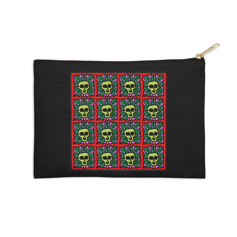 Weed Dude Blotter Head Accessories Zip Pouch by Mike Diana T-Shirts Mugs and More!