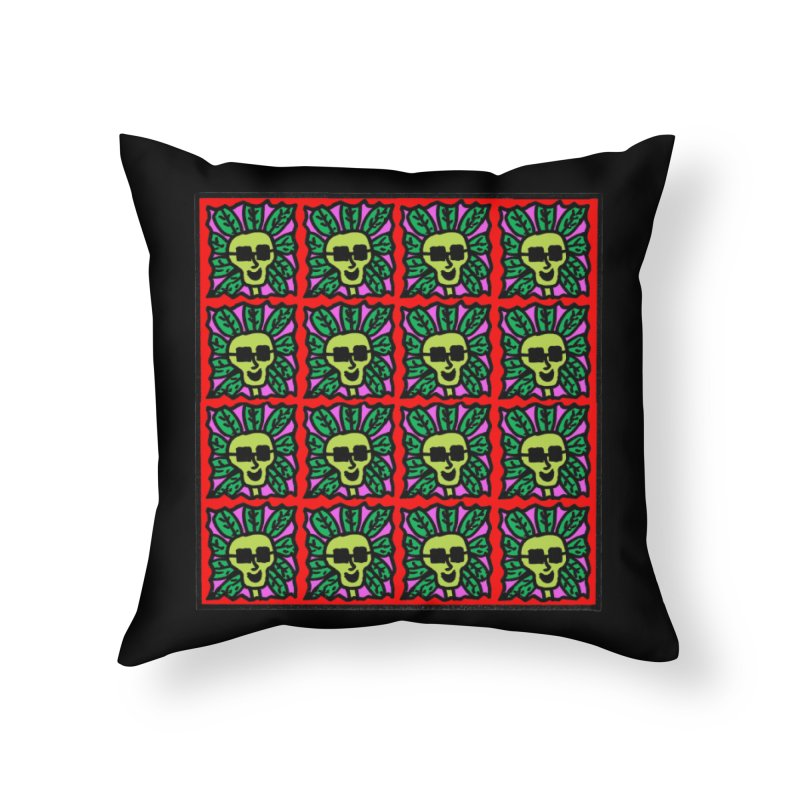 Weed Dude Blotter Head Home Throw Pillow by Mike Diana T-Shirts Mugs and More!