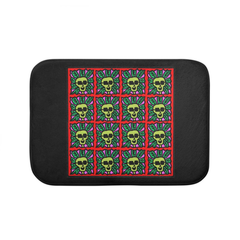 Weed Dude Blotter Head Home Bath Mat by Mike Diana T-Shirts Mugs and More!