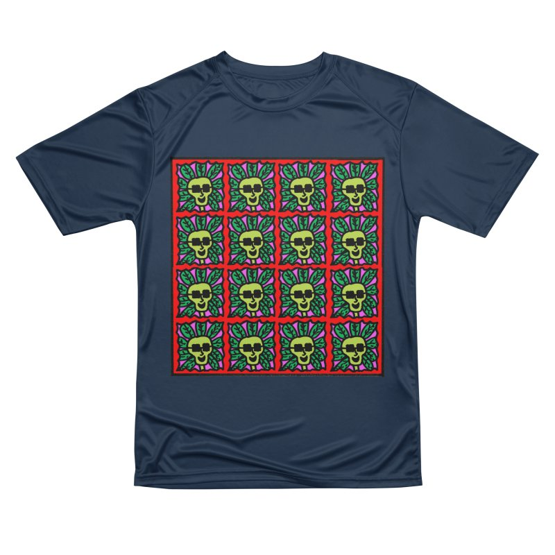 Weed Dude Blotter Head Women's Performance Unisex T-Shirt by Mike Diana T-Shirts Mugs and More!