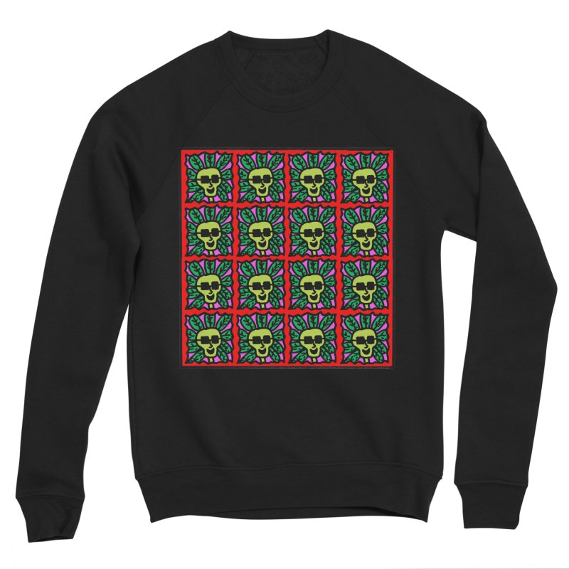 Weed Dude Blotter Head Men's Sponge Fleece Sweatshirt by Mike Diana T-Shirts Mugs and More!