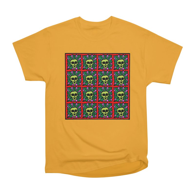 Weed Dude Blotter Head Men's Heavyweight T-Shirt by Mike Diana T-Shirts Mugs and More!