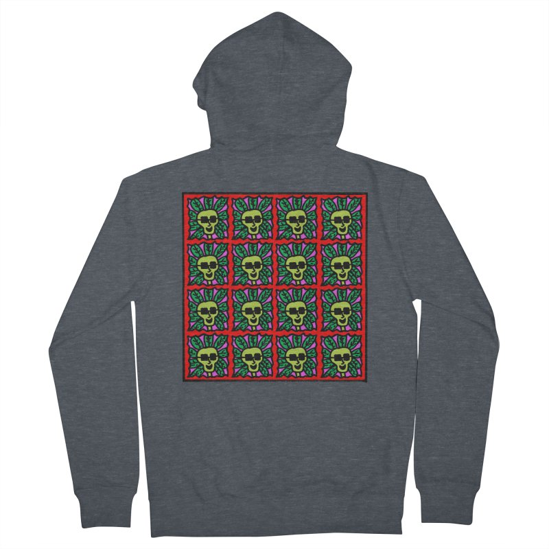 Weed Dude Blotter Head Women's French Terry Zip-Up Hoody by Mike Diana T-Shirts Mugs and More!
