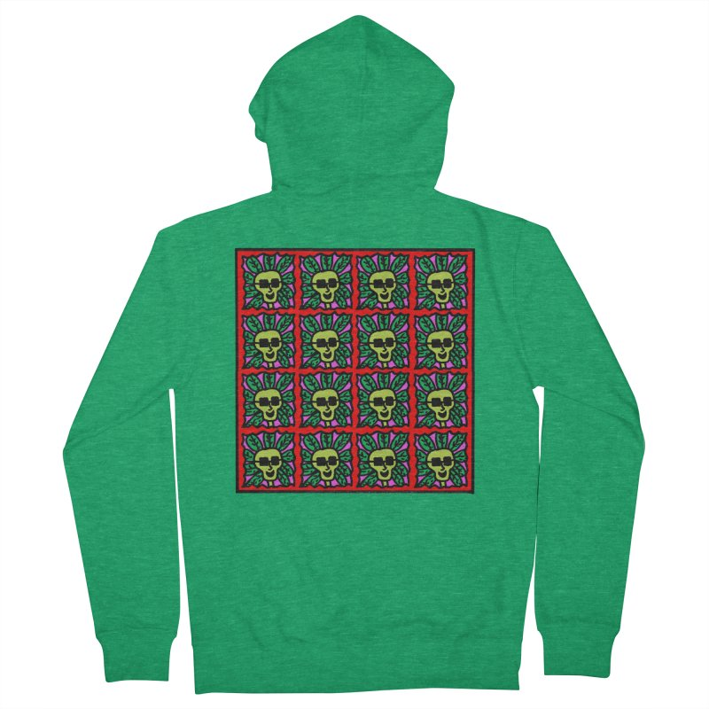 Weed Dude Blotter Head Men's French Terry Zip-Up Hoody by Mike Diana T-Shirts Mugs and More!