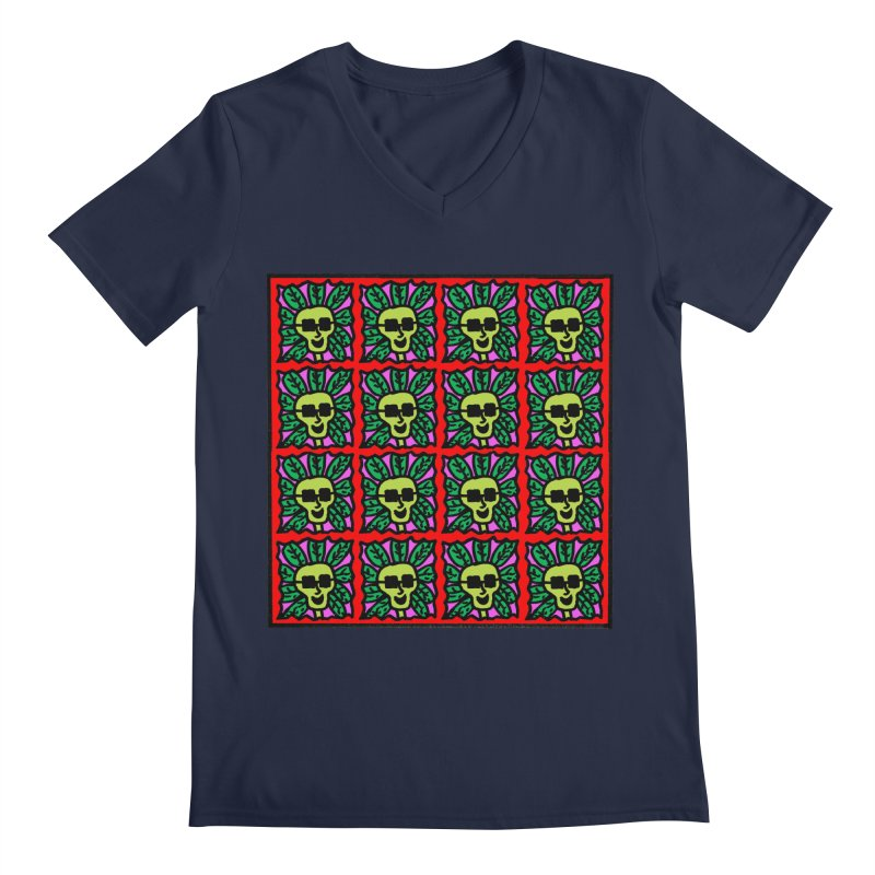 Weed Dude Blotter Head Men's Regular V-Neck by Mike Diana T-Shirts Mugs and More!
