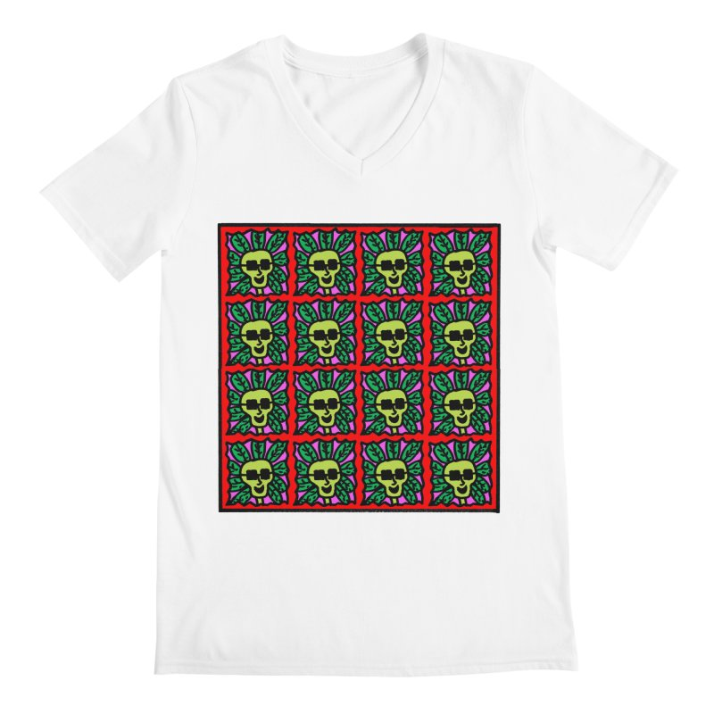Weed Dude Blotter Head Men's V-Neck by Mike Diana Threadless