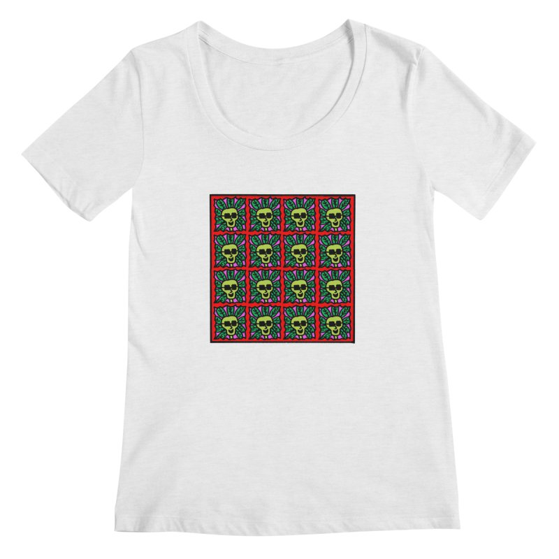 Weed Dude Blotter Head Women's Regular Scoop Neck by Mike Diana T-Shirts Mugs and More!