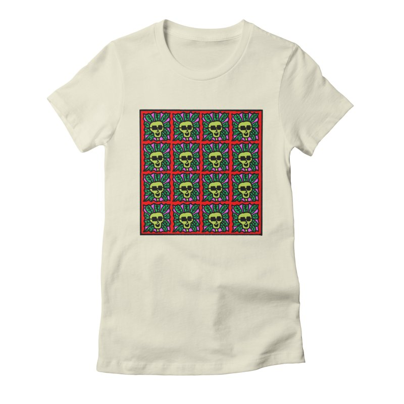 Weed Dude Blotter Head Women's Fitted T-Shirt by Mike Diana T-Shirts Mugs and More!