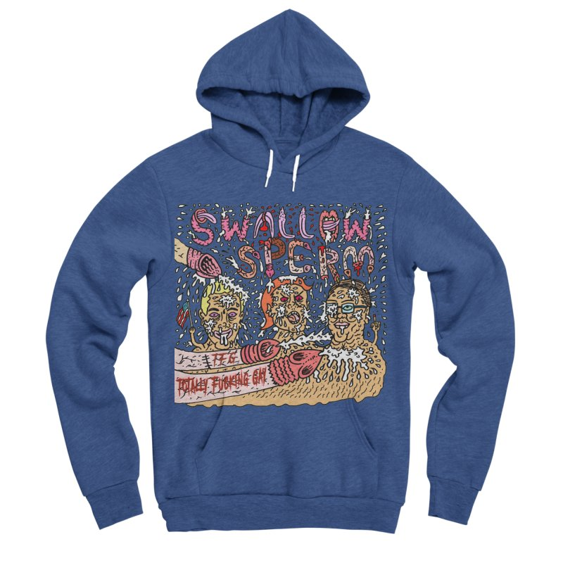 TFG - Swallow Sperm Men's Sponge Fleece Pullover Hoody by Mike Diana T-Shirts Mugs and More!