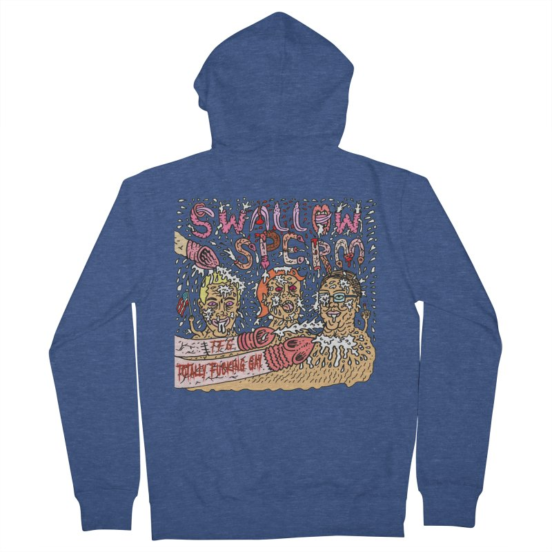 TFG - Swallow Sperm Men's French Terry Zip-Up Hoody by Mike Diana T-Shirts Mugs and More!