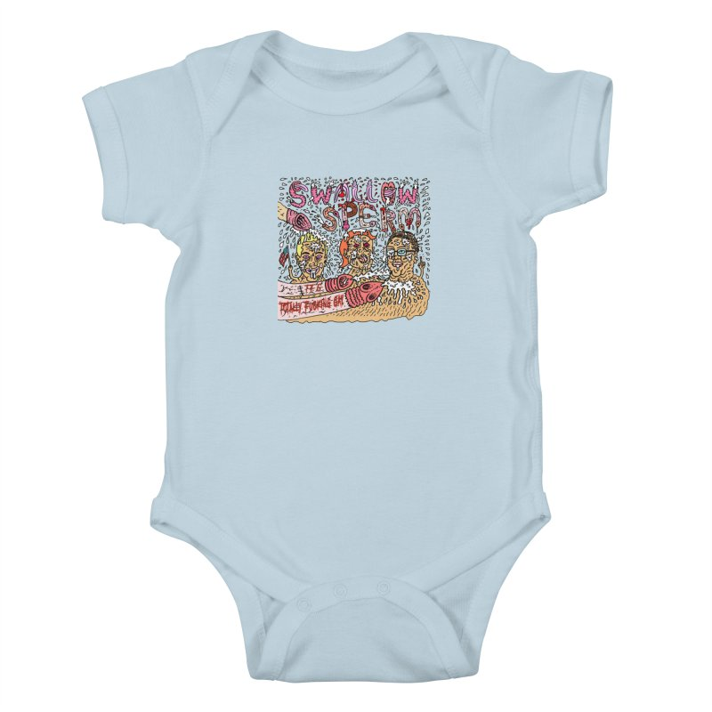 TFG - Swallow Sperm Kids Baby Bodysuit by Mike Diana T-Shirts Mugs and More!