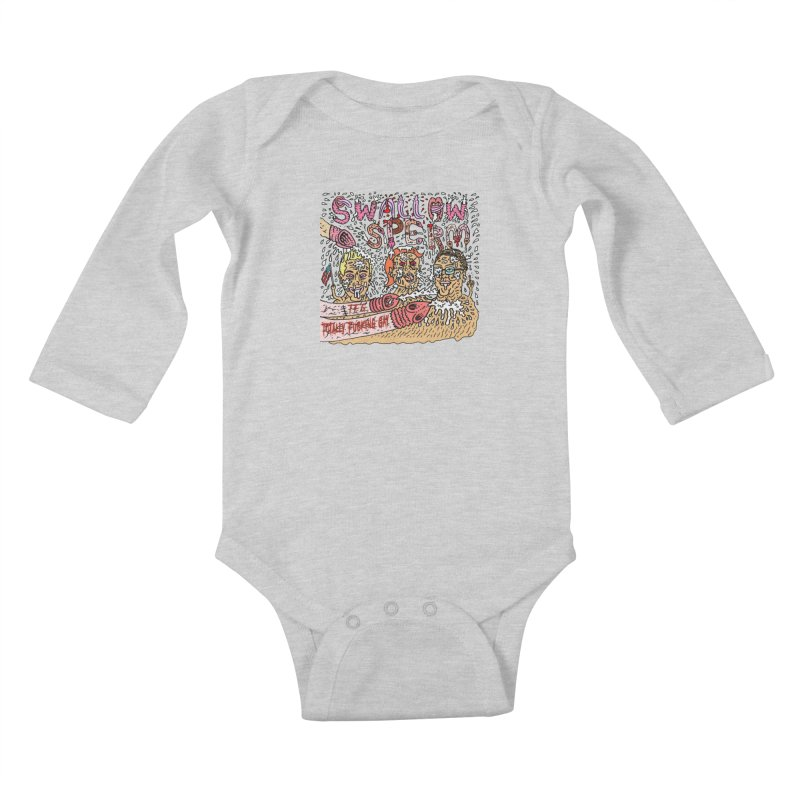 TFG - Swallow Sperm Kids Baby Longsleeve Bodysuit by Mike Diana T-Shirts Mugs and More!