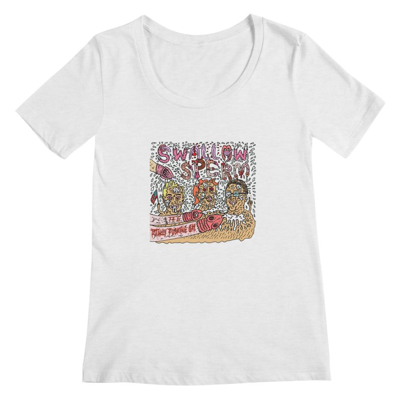 TFG - Swallow Sperm Women's Regular Scoop Neck by Mike Diana T-Shirts Mugs and More!