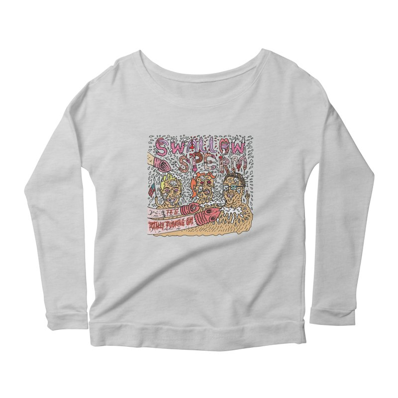 TFG - Swallow Sperm Women's Scoop Neck Longsleeve T-Shirt by Mike Diana T-Shirts Mugs and More!