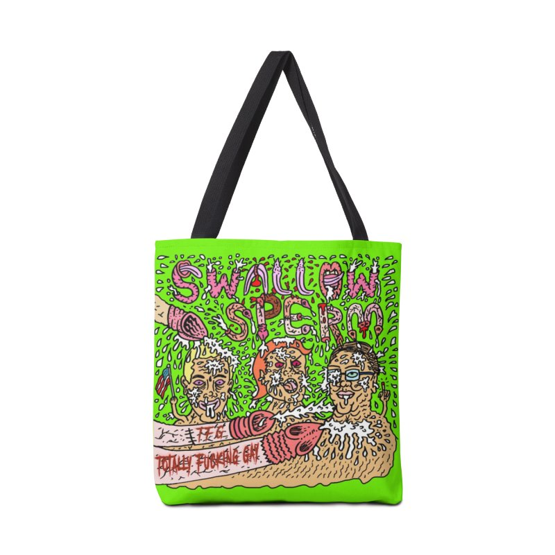 TFG - Swallow Sperm Accessories Tote Bag Bag by Mike Diana T-Shirts Mugs and More!