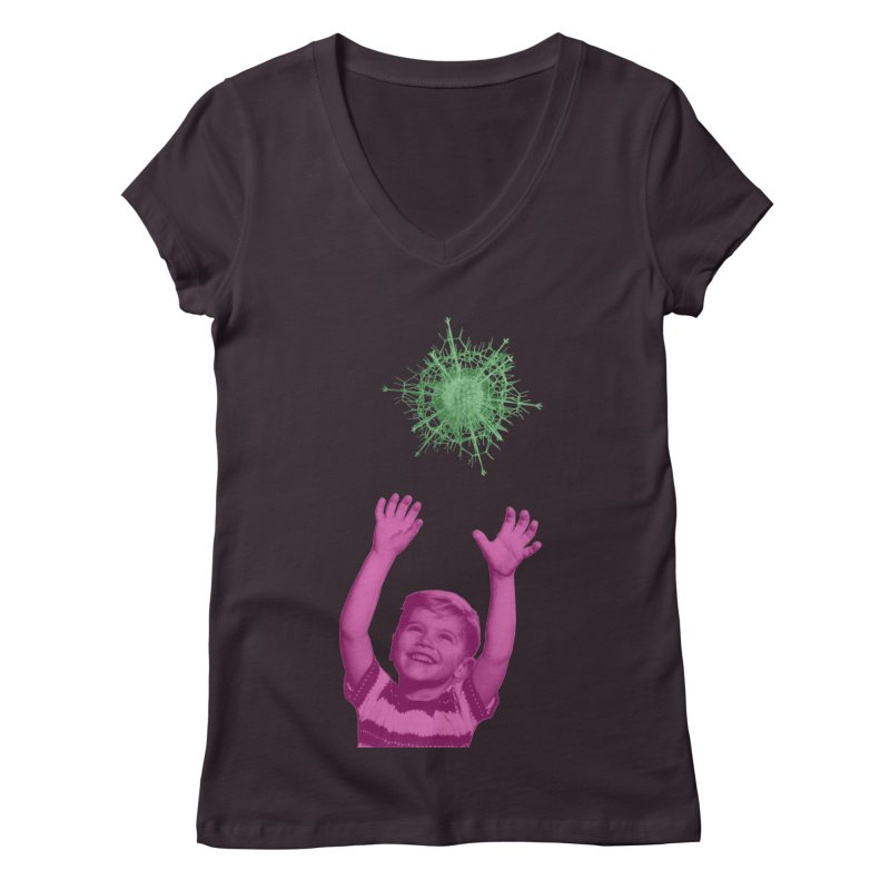 Reach For It Women's Regular V-Neck by Mike Diana T-Shirts Mugs and More!