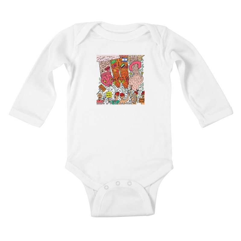 TFG - Condoms Go On All Four Penises Kids Baby Longsleeve Bodysuit by Mike Diana T-Shirts Mugs and More!