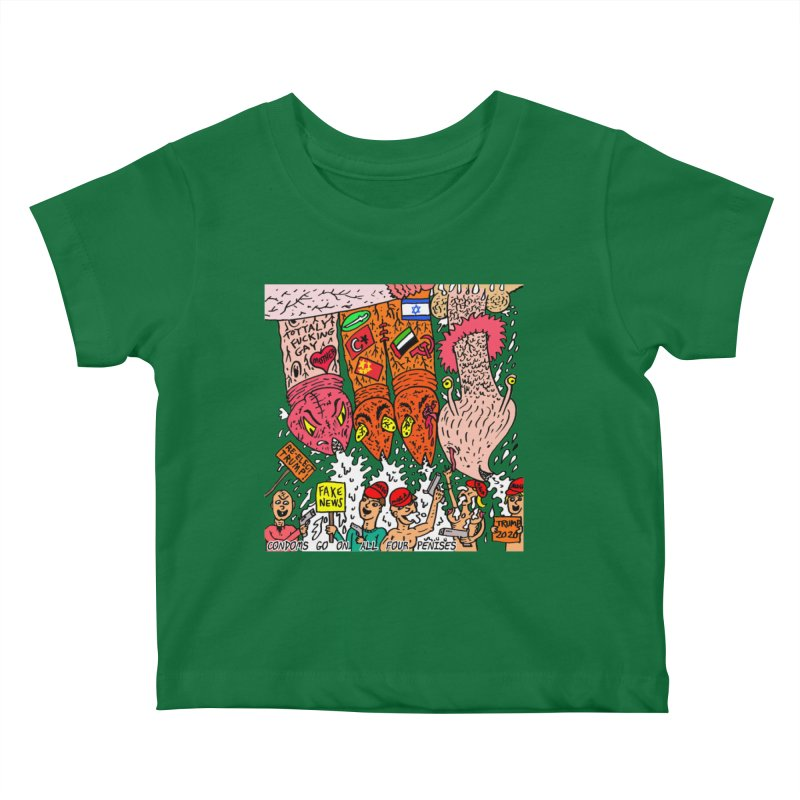 TFG - Condoms Go On All Four Penises Kids Baby T-Shirt by Mike Diana T-Shirts Mugs and More!