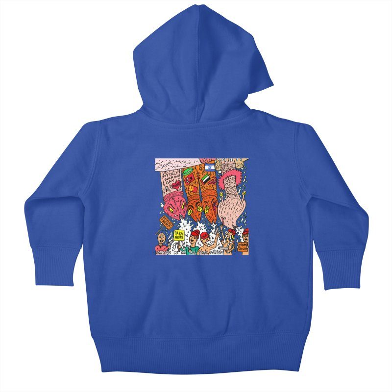 TFG - Condoms Go On All Four Penises Kids Baby Zip-Up Hoody by Mike Diana T-Shirts Mugs and More!