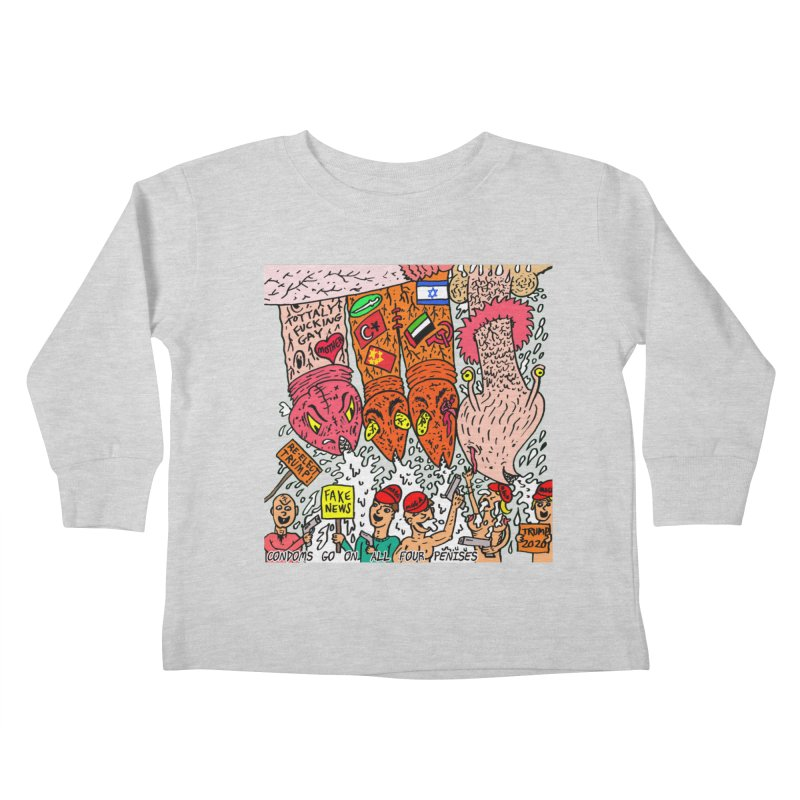 TFG - Condoms Go On All Four Penises Kids Toddler Longsleeve T-Shirt by Mike Diana T-Shirts Mugs and More!