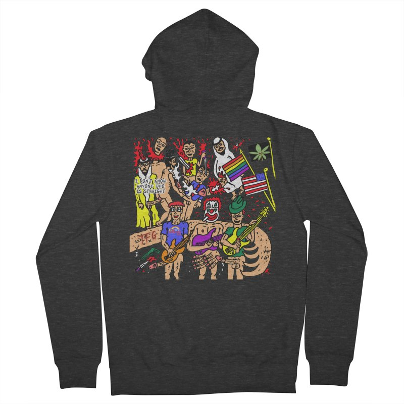 TFG - I Don't Know Anyone Who Is Straight Men's French Terry Zip-Up Hoody by Mike Diana T-Shirts Mugs and More!