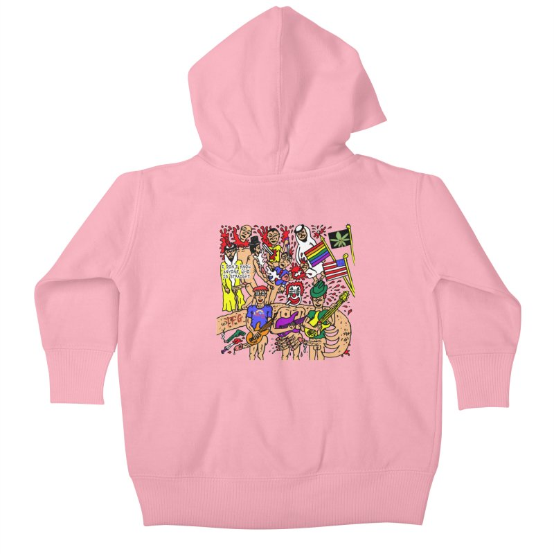 TFG - I Don't Know Anyone Who Is Straight Kids Baby Zip-Up Hoody by Mike Diana Threadless