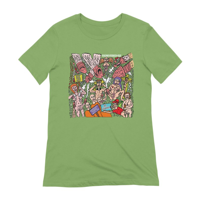 TFG - Someday There Will Be No Gender Women's Extra Soft T-Shirt by Mike Diana T-Shirts Mugs and More!