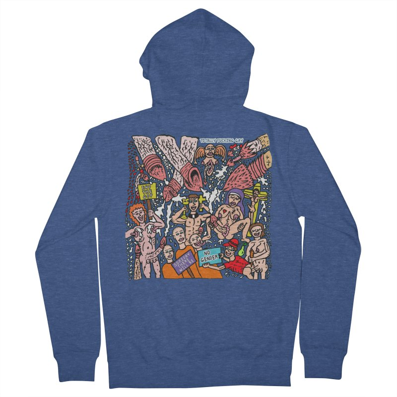 TFG - Someday There Will Be No Gender Women's French Terry Zip-Up Hoody by Mike Diana T-Shirts Mugs and More!